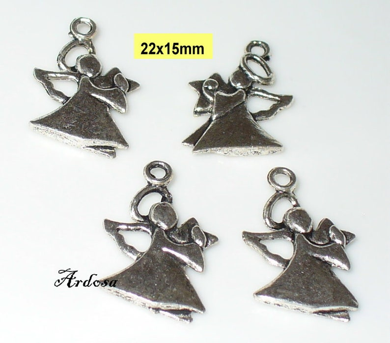 50 pequeñas metal-Stern-perlas de color plateado