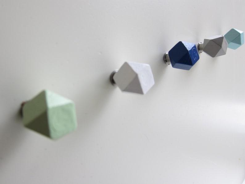 Knoppen Kiezen Kleuren Hexagon Knoppen Kleurrijke Knoppen Etsy