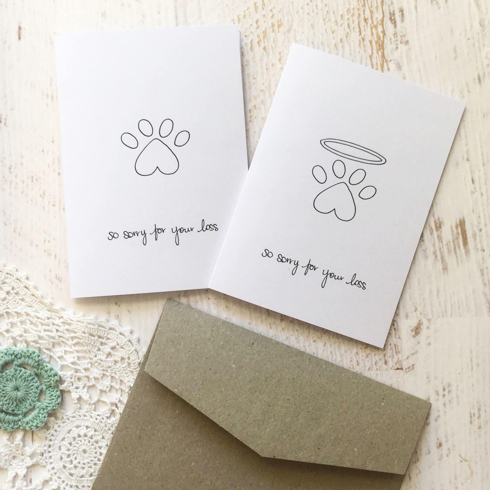 So sorry for your loss - Pet sympathy card print