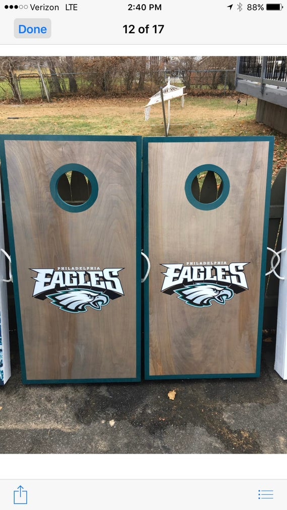 Philadelphia Eagles Cornhole Boards. | Etsy