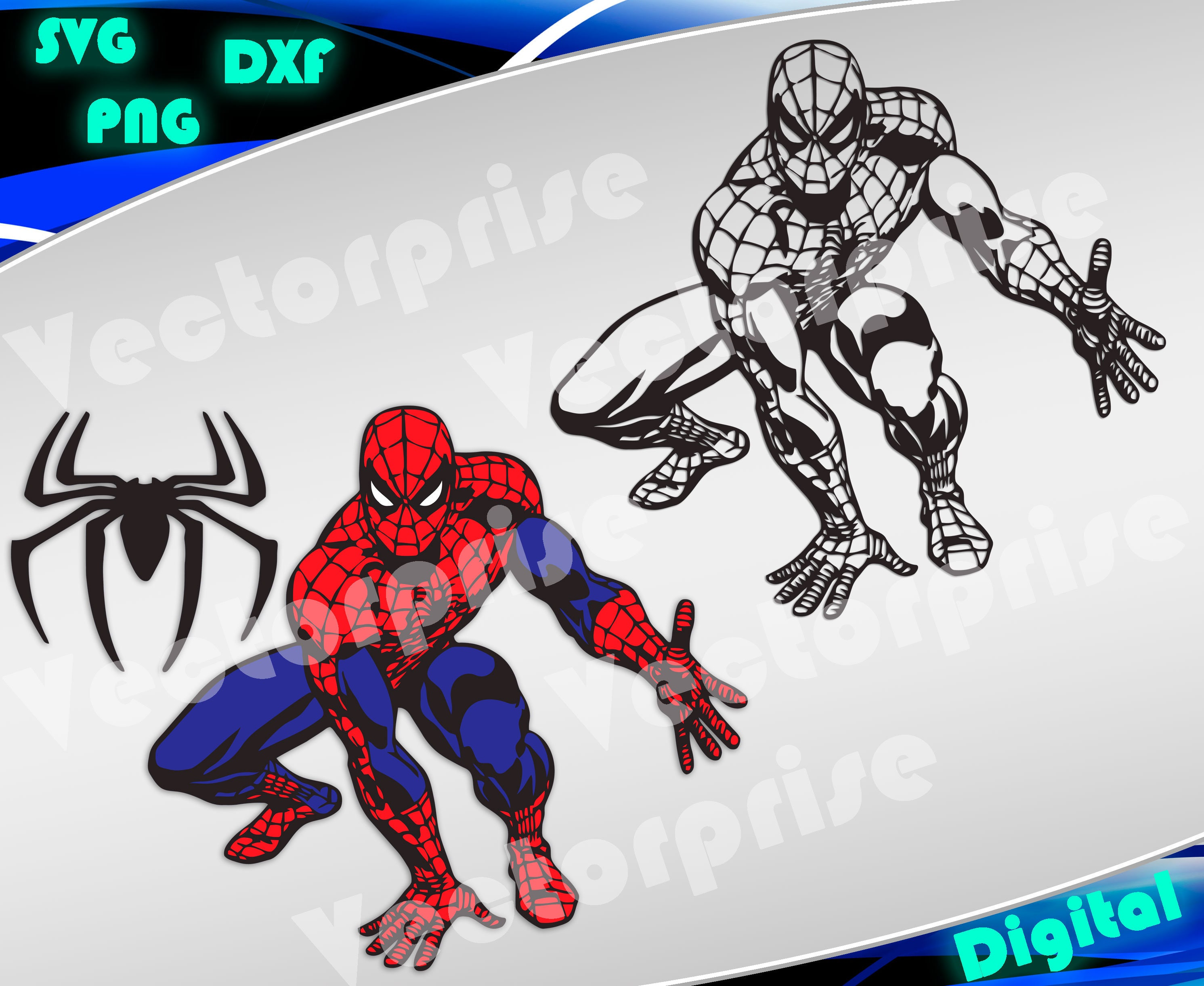 Spiderman Svg Superheroes Svg Spiderman Silhouette Stencil Etsy
