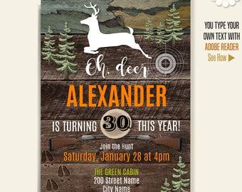 Hunting invitation etsy hunting party invitation printable hunting birthday filmwisefo