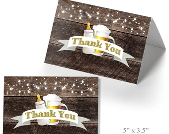 Thank you cards, Printable Rustic thank you card template, Instant download, Not Editable PDF and JPEG T202