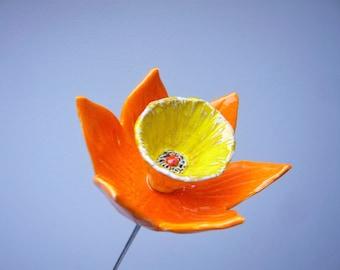 Handmade ceramic narcissus flower