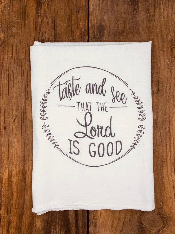 SCRIPTURES CROSS TEA TOWEL 100/% COTTON PERFECT GIFT BIRTHDAY CHRISTMAS