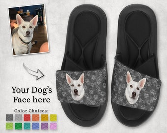 Personalized Pet Photo Gift Dog Face Flip Flops Custom Pet Gift Cat Lover Gift