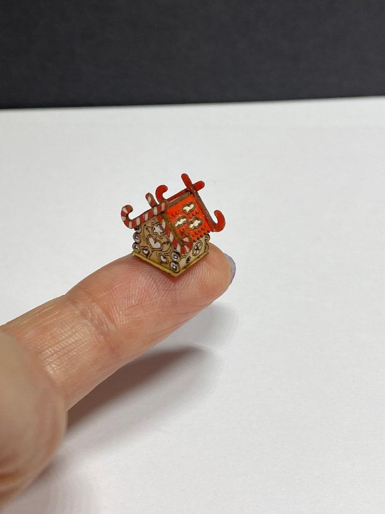 Miniature micro gingerbread dollshouse for a dollshouse 148 scale 1.5 cm small