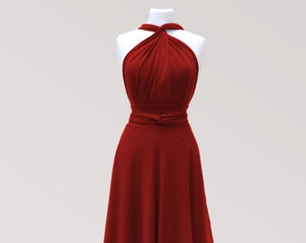 9b1a996183a Middle red infinity dress with chiffon skirt