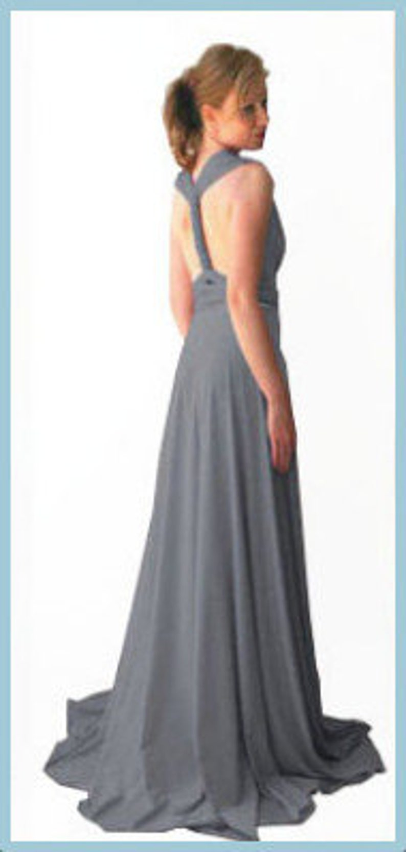 465453cc4d8 Middle gray Infinity Dress Bridesmaids dress with free