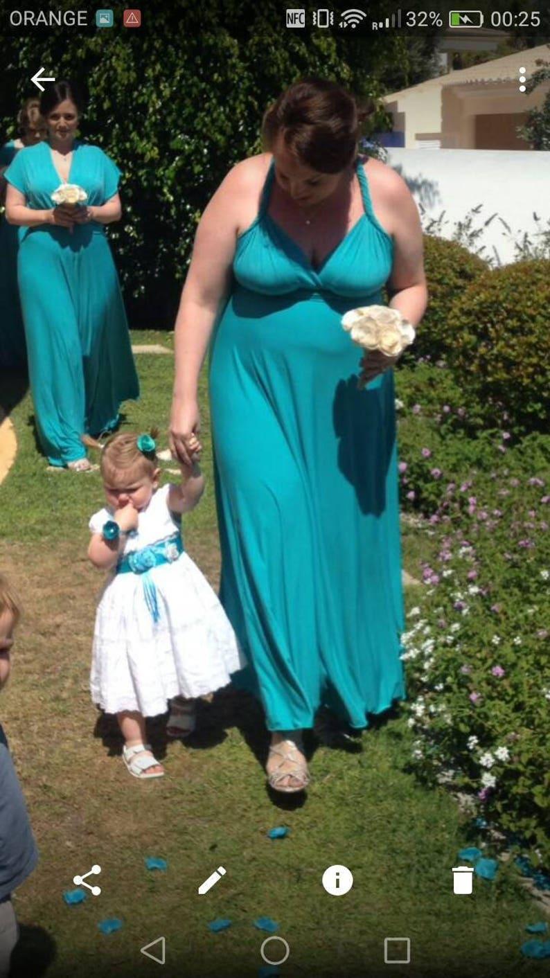 a684d20109460 Infinity Dress floor length in aqua green color wrap dress | Etsy