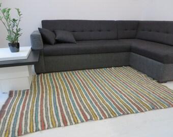 Stripe area rug etsy