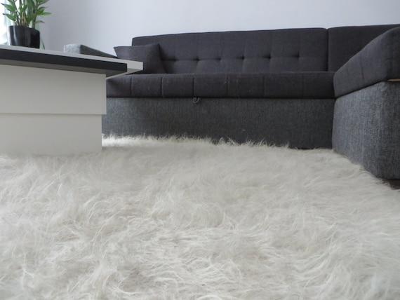 Fußboden Teppich Grau ~ Flokati teppich flauschige schafe haut gewebten teppich etsy