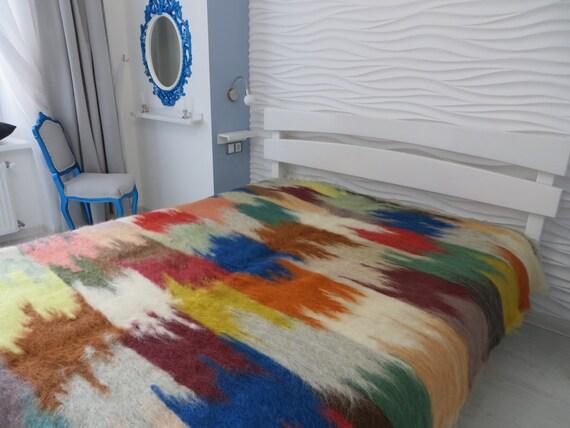 Bohemian Throw Blankets Fascinating Bohemian Throw BlanketKing CoverletWool BlanketQueen Bed Etsy