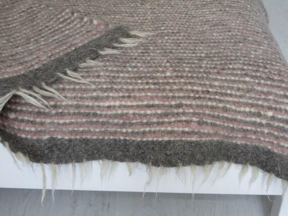 Lit de Taille Queen Couverture Laine Blanche jeter canapé couverture tissée main Plaid Cadeau Mariage