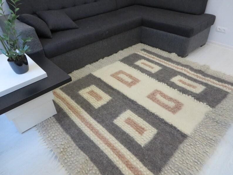 Fußboden Teppich Grau ~ Wolle teppiche teppich wohnzimmer teppich boden dekor etsy