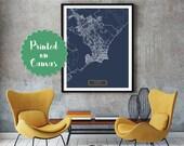 Maceió Brazil CANVAS Large Art City Map Maceió Brazil Art Print poster map art jt JackTravelMap