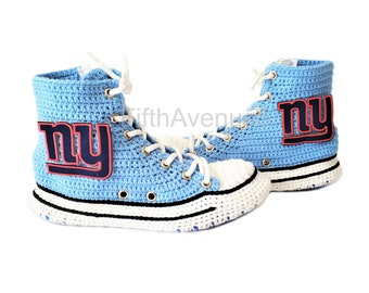 64f0ae5e9f388a New York Giants High Top Converse Sneaker Slippers