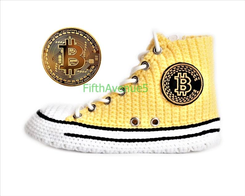 fcd352e23d82 Crochet Bitcoin Converse Chuck High Tops Women s And