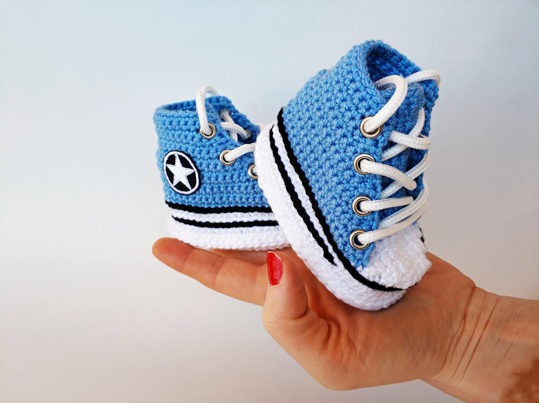 ebbdabb0f2e2 Newborn Chuck Taylor Knit Booties Chuck Blue Converse infant