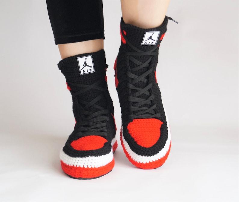 71467b3e341 A Custom Air Jordan Retro style High Slipper Mens Trainers