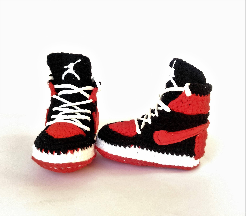 77b3182c27ec2 Air Jordan Baby Crochet Sneakers Air Jordan Shoes Red Air