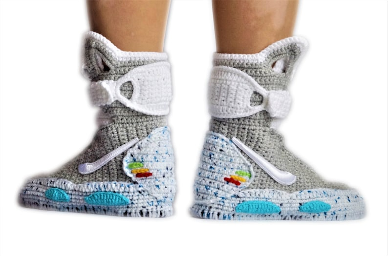 c5f17030aec5cd Back To The Future Custom Air Mag Crochet Shoes Marty McFly