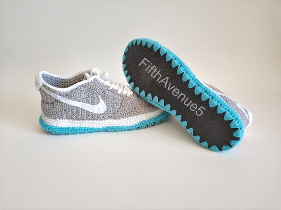 low priced 5e4c9 d9369 Handcrafted Crochet Style SB Dunk Low - Air Mag Marty McFly Skateboard  Sneakers Crochet Slippers, Back to the Future-Inspired by Sneakers