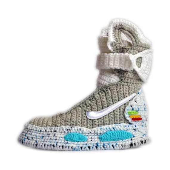 Mag To Future SlippersKnitting Air Air SlippersCosplay Custom Air Mag Mag Back ShoesBTFA The ShoesMarty Custom McFly Knitted Crochet 2EID9HW
