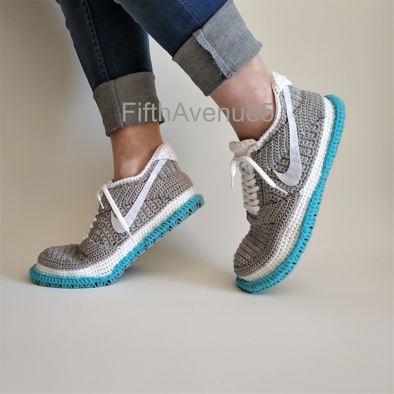 low priced 77eeb 727a7 Handcrafted Crochet Style SB Dunk Low - Air Mag Marty McFly Skateboard  Sneakers Crochet Slippers, Back to the Future-Inspired by Sneakers