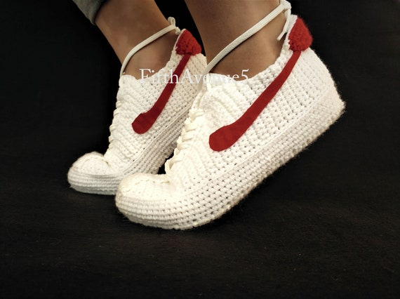 Custom Bruin Style Sneakers the Style Crochet Knitting to Crochet Custom BTTF Future Footwear Marty Back Retro Knitting McFly's Sneakers 5qHUaX8xnw