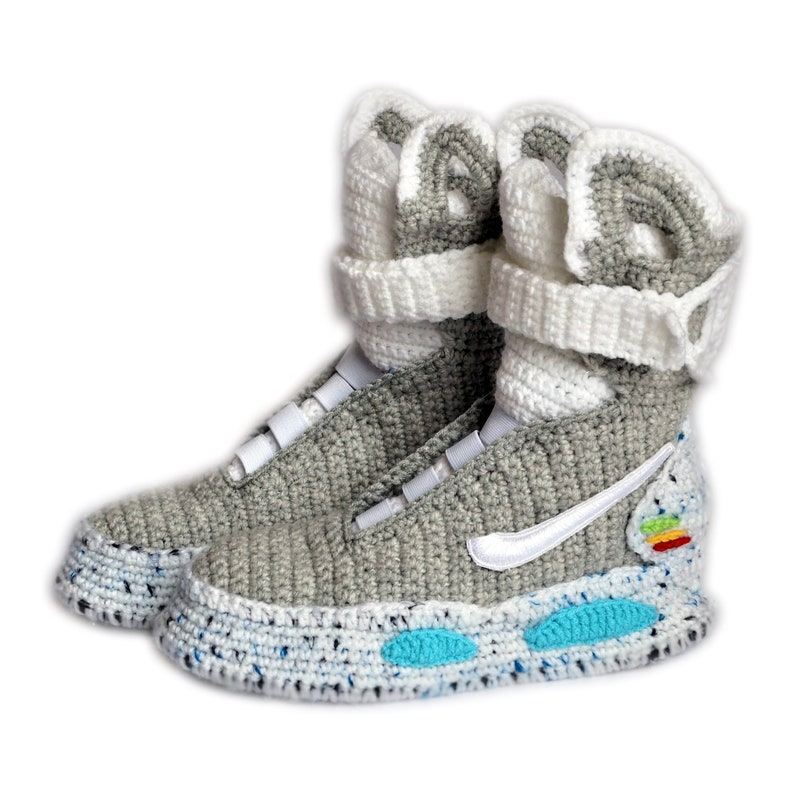 80f4c0d78413a0 Back To The Future Custom Air Mag Crochet Shoes Marty McFly