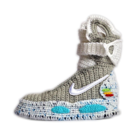 demandante formar tomar el pelo  Back To The Future Custom Air Mag Crochet Shoes Marty McFly | Etsy