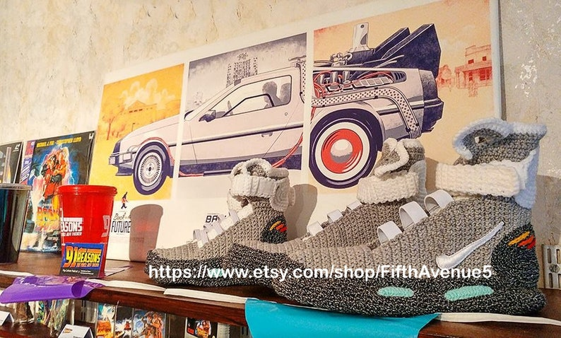 e15fe5d02ca8ff Back to the Future Knitted Slippers Crochet Knitted Home