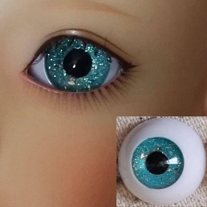 Bjd doll acrylic eyes 16 mm 4 pairs green reborn dollfie msd yosd minifee