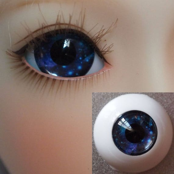 Bjd doll acrylic eyes 18 mm Black for reborn dollfie msd yosd minifee crafts