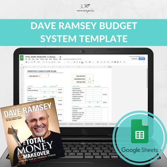 dave ramsey budget system template dave ramsey baby step etsy