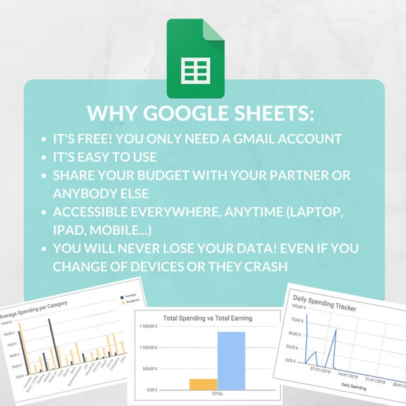 easy budget spreadsheet template expense tracker family etsy