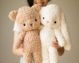 Fleece Teddy and Bunny Crochet Pattern