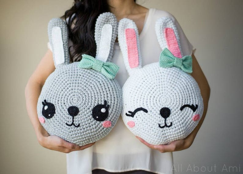 Snuggle Bunny Pillows Crochet Pattern image 0