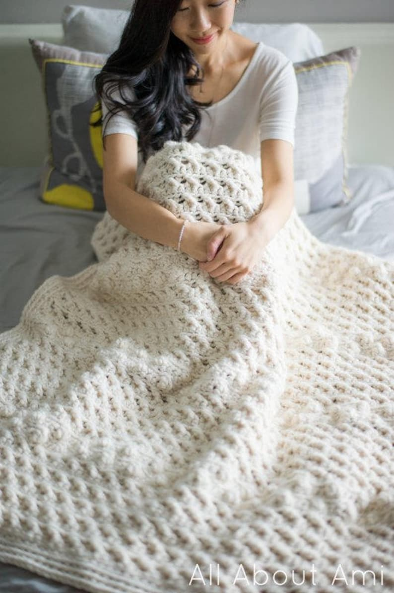 Cross Bobble Blanket Crochet Pattern image 1