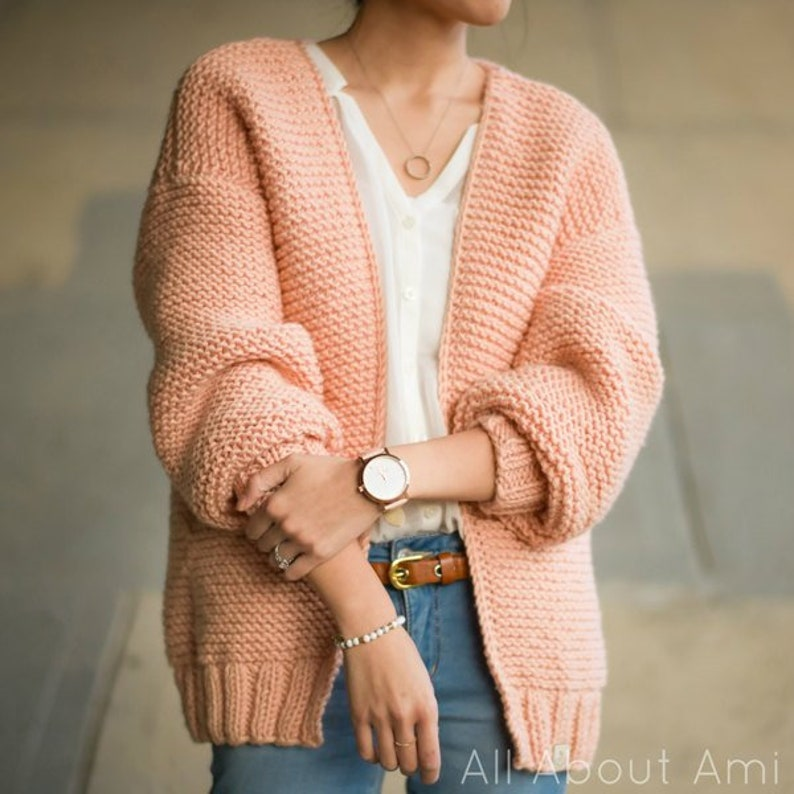 Downtown Cardigan Knit Pattern image 0