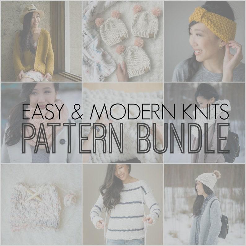 Easy & Modern Knits PATTERN BUNDLE image 0