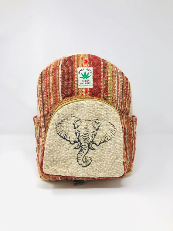 Small size Elephant Luck Ghiri Hemp backpack