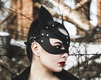 mask of leather | cat mask | BDSM mask | Halloween mask | bdsm games | bdsm games | kitten mask | masquerade mask