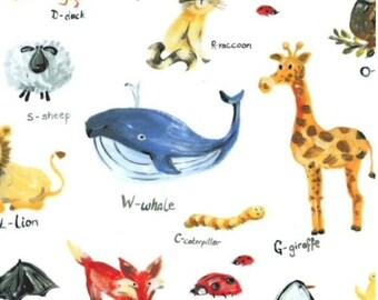 Bath apron - Alphabetic Animals