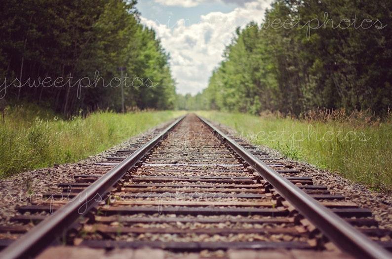 Digital Background Train Tracks image 0