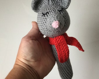 Cute Mouse toy with scarf
