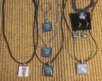 Villain Jewelry and Keychain