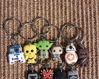 Repurposed Star Wars Shoe Charm Keychains