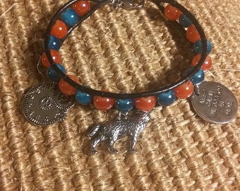 Doctor Who Inspired Hand-woven Beaded Charm Bracelet
